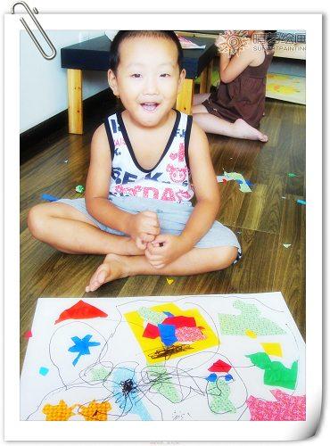 继续拼凑 拼贴画精品 晴艺儿童创意美术的日