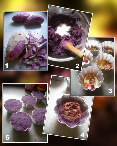 紫薯八宝糕 - 出尘素影 - 淡极始知花更艳