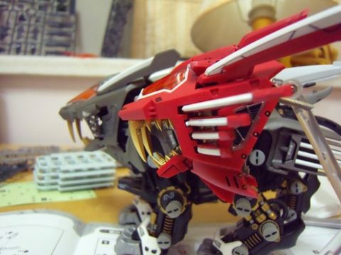 HMM:RZ-028 Blade Liger AB Leon Ver. 工事中 - 速水鉄 - 速水鉄の工作室