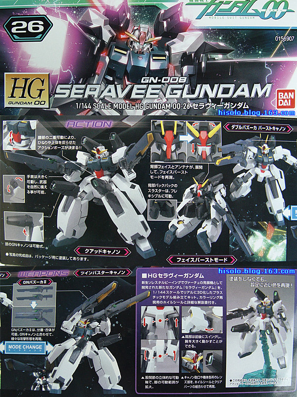 【模型】Seravee Gundam 1/144 入手 - SOLO - Solos Space