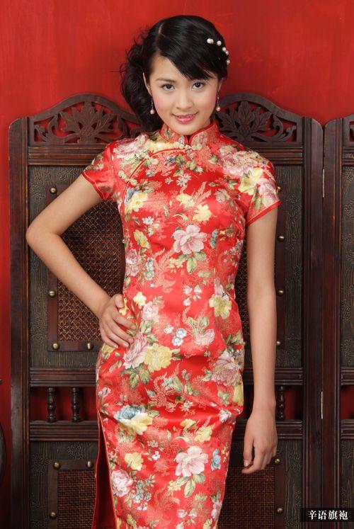 红色旗袍_引用《中国旗袍》(组图)