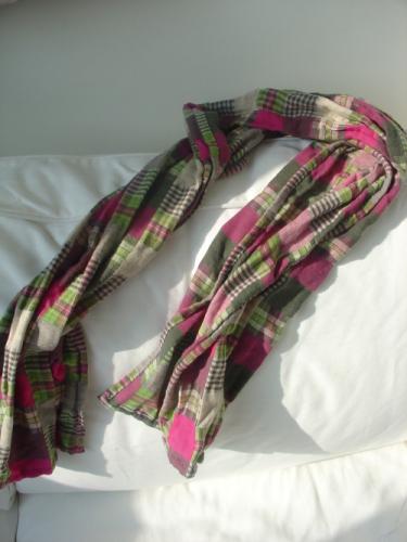 巫手工冬日版:作旧感双层棉苏格兰格子围巾(玫瑰红 - 巫昂 - 巫昂智慧所