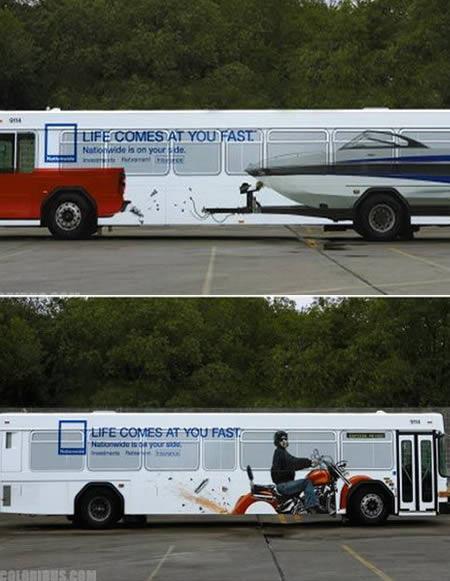 超酷!世界各地最有创意的公交车广告