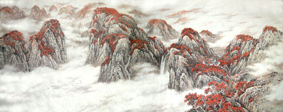 引用 网友画作欣赏(1)——画家雪丰山水画 - 卧虎草堂 - 张子鸿的国画