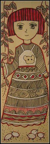 时尚+传统 牛皮纸画 - 艺馨*童画 - 艺馨*童画