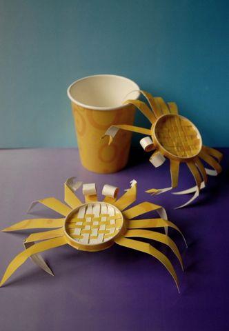 【引用】纸杯创意手工--螃蟹 - ludemin111 - 南山先生