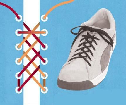 """系鞋带花样种种(组图) - 渴望美好 - """"渴望美好""""的博客(读天下文、交天下友)"""
