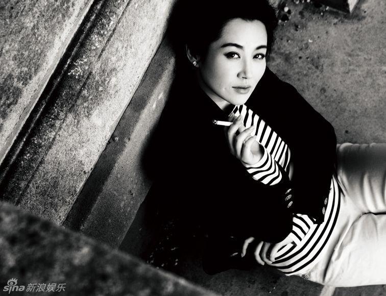 許晴時尚和黑白照 - 翠羽黄衫 - 龙游大海