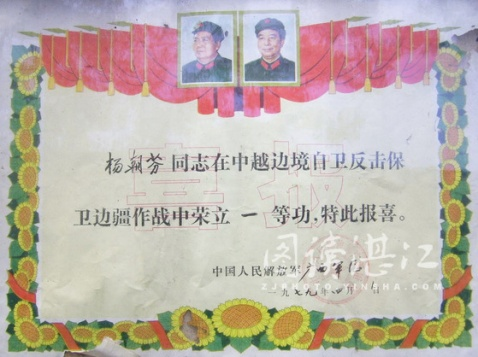 黄继光式的越战英雄杨朝芬近况 - 54261部队 - 五四二六一部队的博客