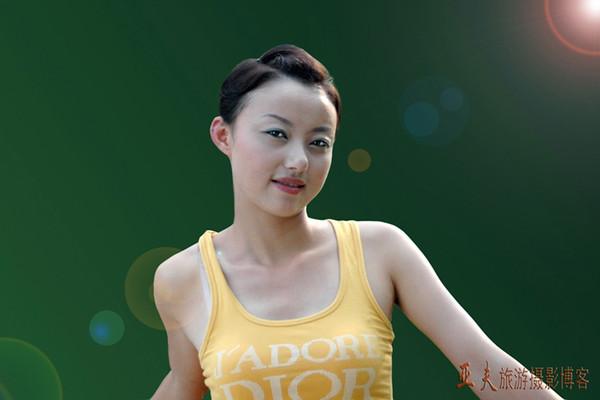 (原创)西模泳装美女彭婵 - 高山长风 - 亚夫旅游摄影博客