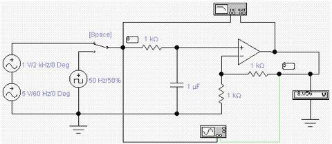 [练习题]rc低通滤波器电路的仿真