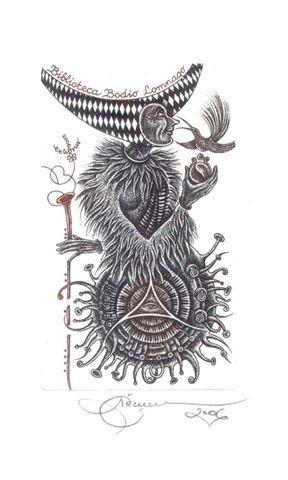32届国际藏书票双年展我收藏的外国十位名家之一的作品(2) - 野蔷薇(何鸣芳) - 我的博客