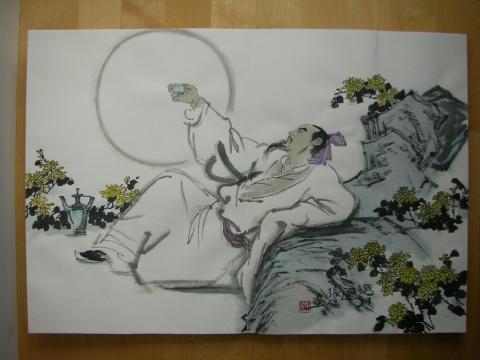 关于中秋月亮的画 描写中秋月亮的好段 描写中秋月亮