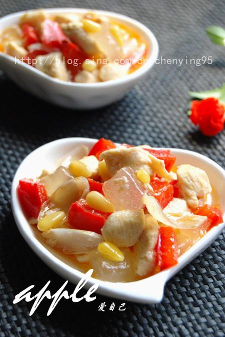 抵挡酷暑天19道清爽小菜吃出清凉来:芦荟百合松仁鸡丁 - 可可西里 - 可可西里