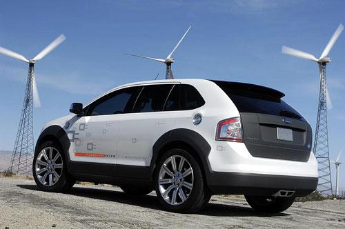 福特展示世界第一辆插电式燃料电池混合动力车 高清图片