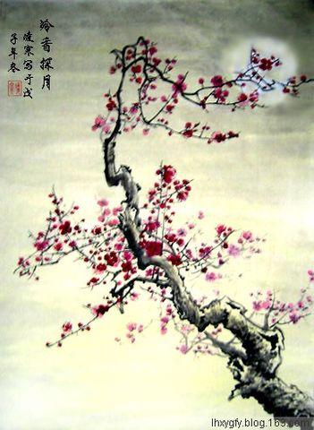 (原创)七律 <元宵思梅>和冷青秋 - 凌寒 - 梅影清溪