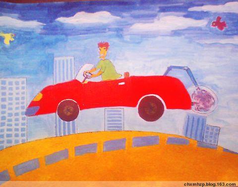 学员张连的科学幻想绘画作品---《汽车尾气净化罩》 - 趣趣豆漫画函授中心 - 趣趣豆漫画函授中心