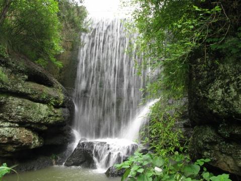 百丈岩瀑布(新昌的瀑布之六) - 江村一老头 - 江村一老头的茅草屋