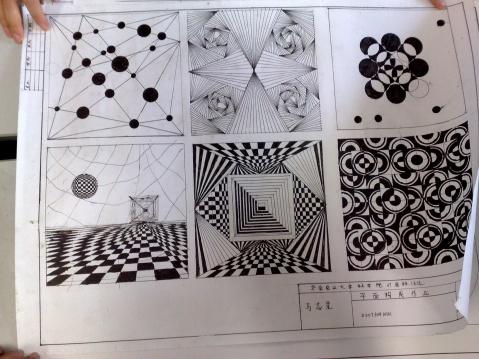 设计作业——点线面体平面构成