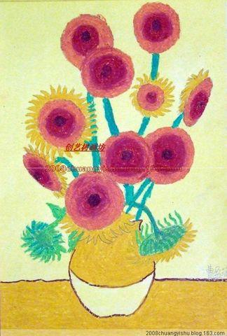 向日葵梵高儿童画