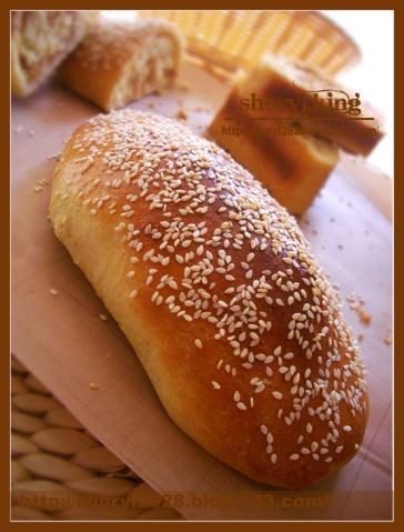 肉松芝麻面包 - 出尘素影 - 淡极始知花更艳