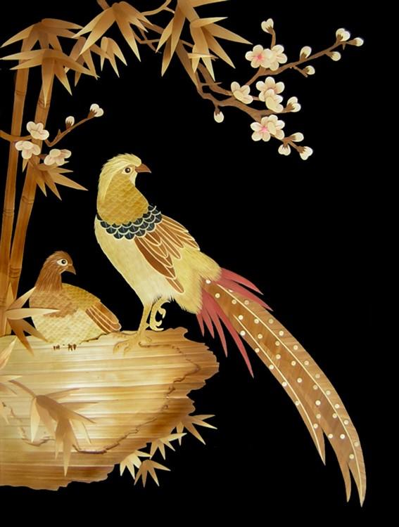 艺术欣赏 麦秸画(相知如镜) - 舒芳诗林 - 舒芳诗林的博客