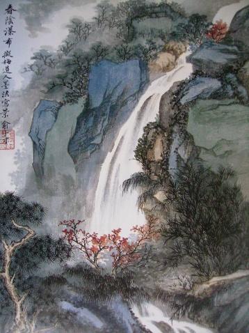 引用 罗昌老师中国山水画技法讲座第一讲 - 万如 - 愿来这的朋友天天开心!