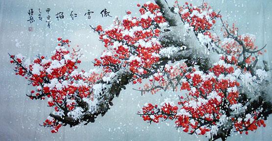 国画欣赏(傲雪红梅) - fangxin529 - fangxin529