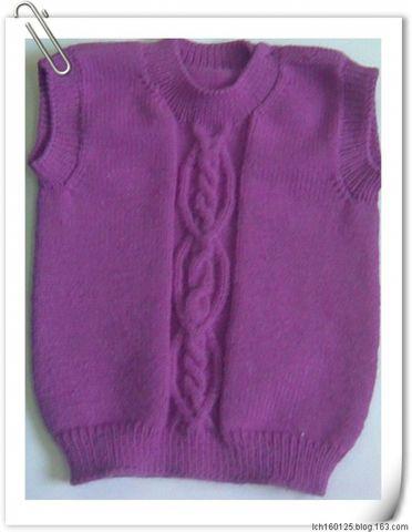 新年礼物1----给侄女的梅红背心 - 平凡的女人 - 菜鸟的编织小屋