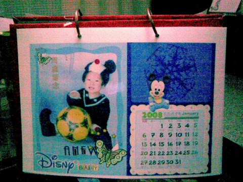 手工制作的2008全家福日历图片