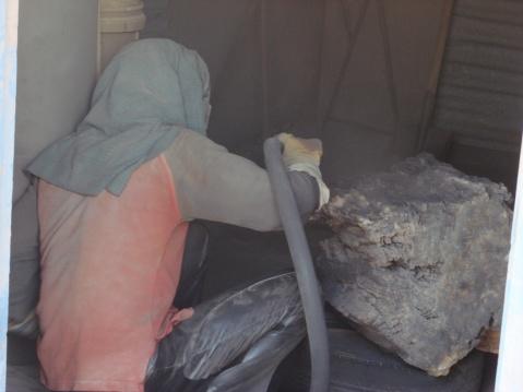 树化玉的喷沙处理 - 浪读水 - 浪读水博客