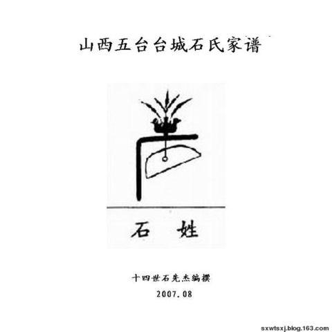山西五台台城石氏家谱 - 石晓璟志 - 石润哲烨