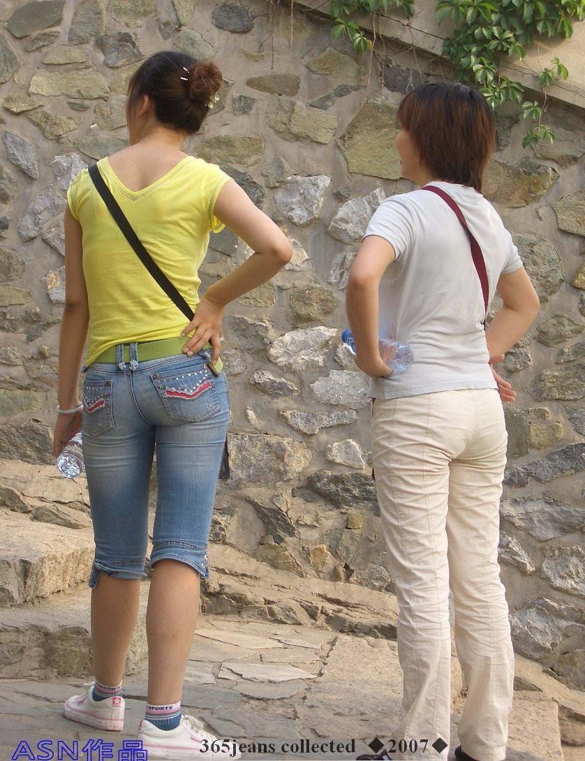 山道上的5分紧身牛仔裤MM - 源源 - djun.007 的博客