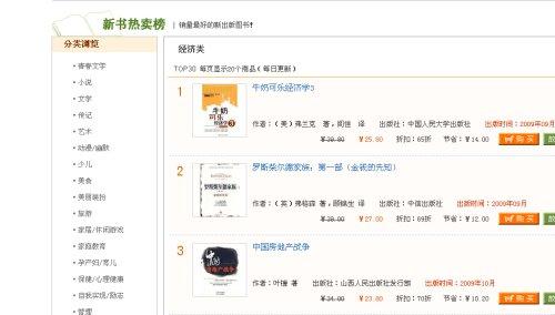 叶檀《中国房地产战争》跃升新书热卖榜经济类第三名 - 陆新之 - 陆新之的博客
