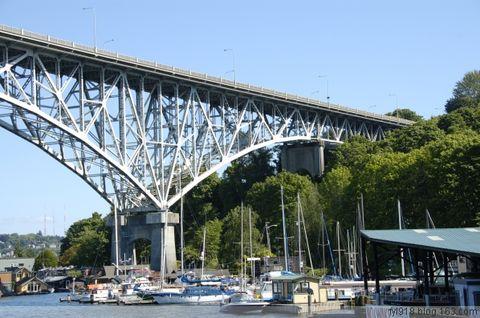 到西雅图观光(22):运河上的桥梁 - 阳光月光 - 阳光月光