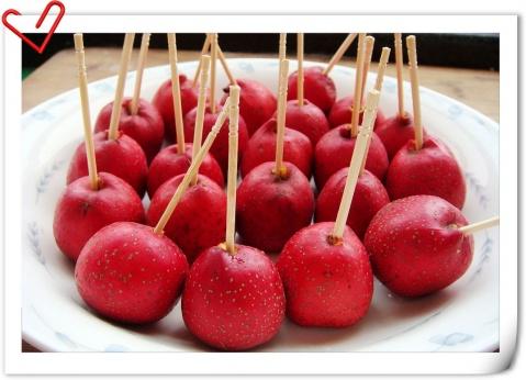 酸甜香脆的冰糖葫芦(原创) - 玉池桃红 - 玉池桃红的博客