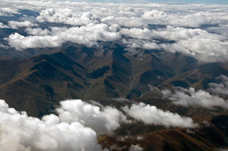 【原创】从拉萨到长沙(飞机窗外风景)——走近青藏之十 - 歪树 - 歪树