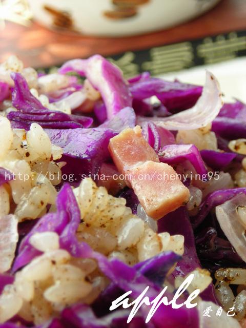 16道简单易做的饭菜帮你找回好胃口:酒香紫甘蓝烩饭 - 可可西里 - 可可西里