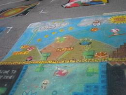 [digg] 超级玛丽街头艺术 - 李二嫂的猪 - 翱翔的板儿砖