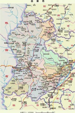 吕梁地区地图