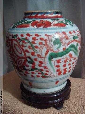 《明代红绿彩狮球纹罐》(图文原创) - 乌拉草 - 乌拉草的博客