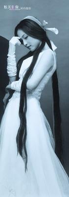 厉娜婚纱美图 - 水无痕 - 明星后花园