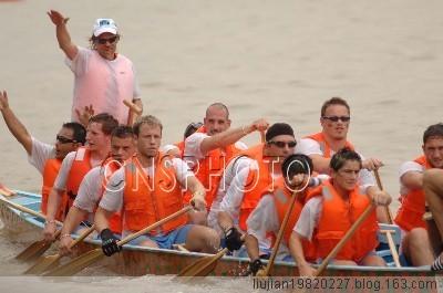 【原创】2008广州国际龙舟邀请赛 - 现代阿Q - 祝来之朋友:鸿运当头乎,牛气冲天者!牛也