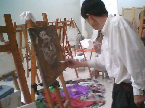 刚刚开始油画 - 優子 -