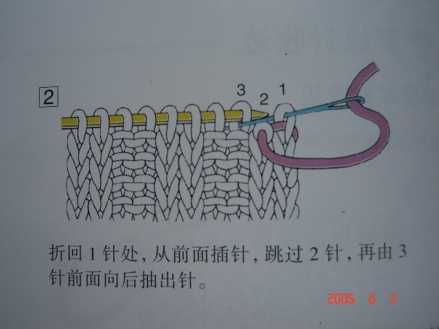 双罗纹(ie两针上两针下针)收针法,也是机器角哦。 - 浮萍 - 浮萍的博客