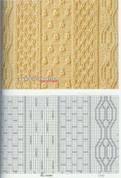 100个编织图样图解,大图,很清晰(超多麻花) - 非尘 - feichen1959的博客