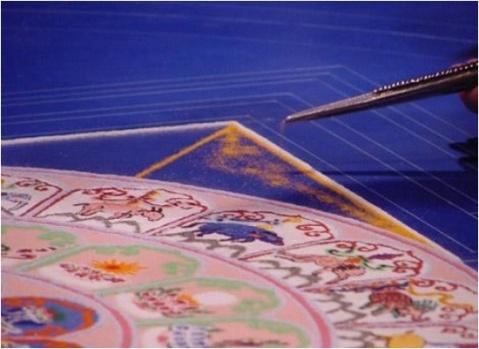 繁华,不过是一掬细沙(藏传佛教行为艺术——生命瞬间) - 黄靖媚 - hjm .