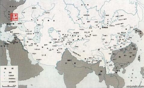 中国元朝地图,元朝疆域地图