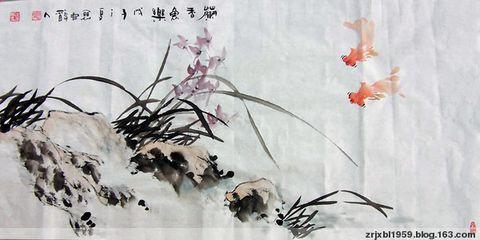 【原创】三尺小品花鸟 - 关中醉人 - 徐保林花鸟画