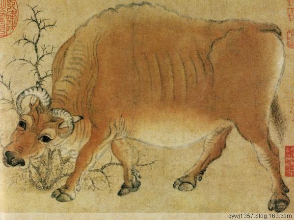 中国十大名画之 《五牛图》韩滉 - 牧马人 - 牧马人